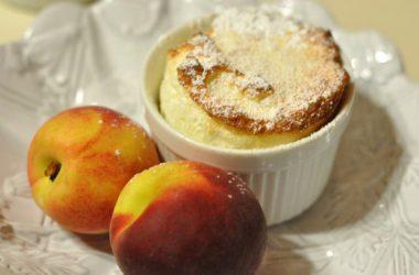 Яблочно-персиковое суфле - фото