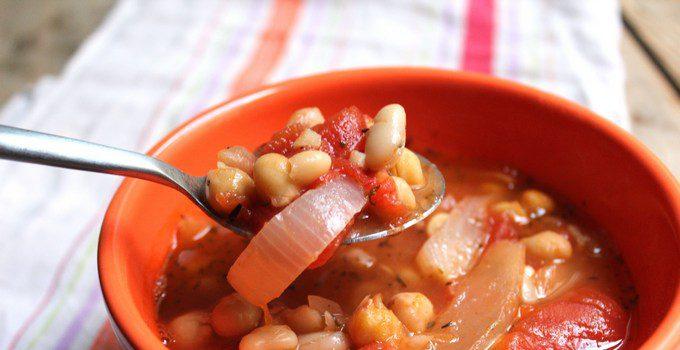 Суп из томатов и фасоли с говядиной - фото